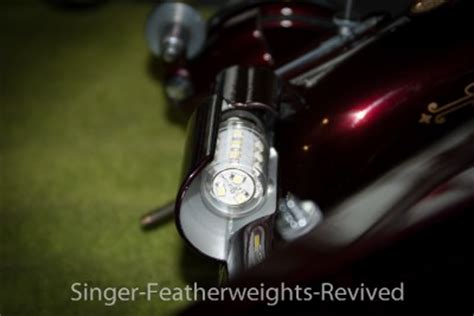 singer featherweight led bulb bright white light