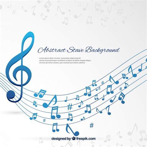 fondo de pentagrama  notas musicales azules descargar