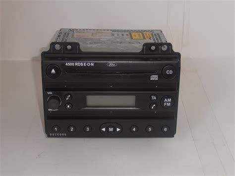 ford fusion cd player radio 4500 rds with code din rds eon black