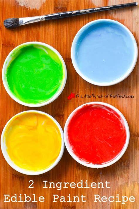 2 Ingredient Edible Paint Recipe Kids Can Turn Food Into