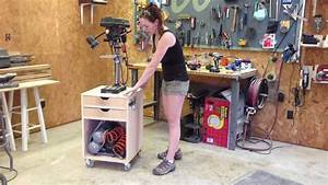 DIY Rolling Drill Press Stand - YouTube