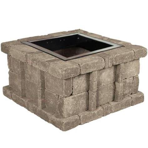 home depot pit insert 38 5 in x 21 in rumblestone square pit kit in