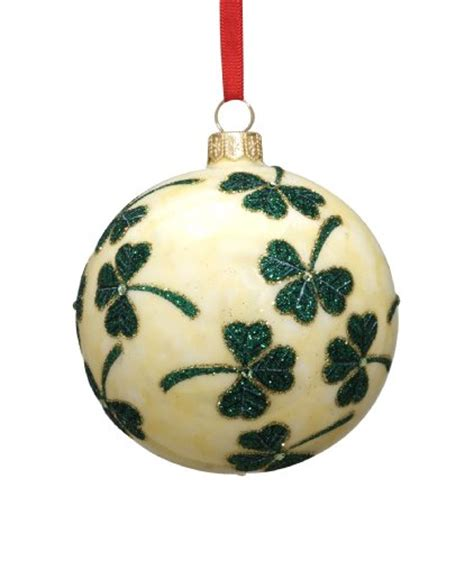 reed barton shamrock ball european blown glass christmas