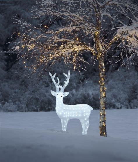 led outdoor reindeer large exterior led reindeer for