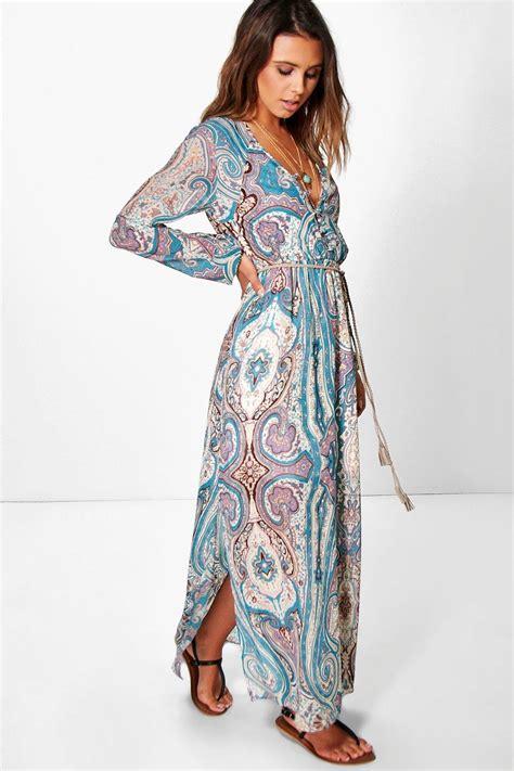 boohoo womens petite polly paisley cage  maxi dress ebay