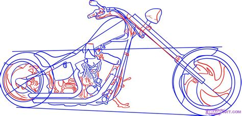 how to draw a motocross bike how to draw a motorcycle step by step motorcycles