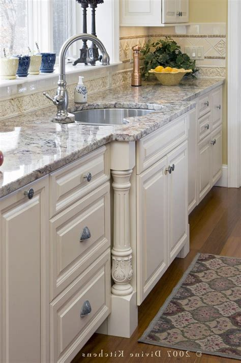 sink bump out kitchen traditional with wood island
