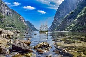 Water, Norway, Landscape, Nature, Fjord, Scandinavia, Sky