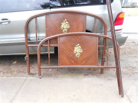 Antique Steel Twin Bed W/headboard, Foot Board Cast Iron Side Rails For Sale In Sylvan Beach Antique Mahogany Bedroom Sets Childrens Floor Mirrors Toronto Bronze Light Switch Rose Gold Mens Wedding Band French Extension Dining Table Armoire Wardrobe Uk Horse Drawn Farm Implements