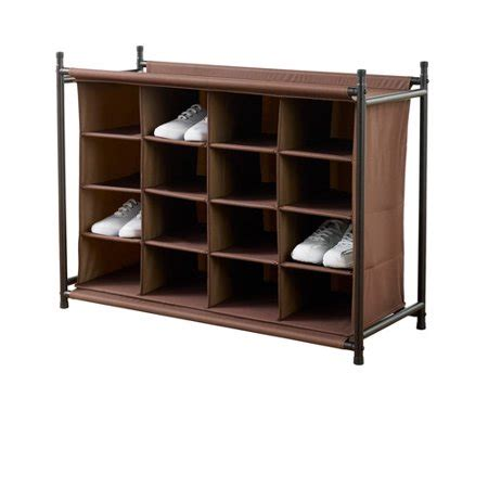 walmart shoe rack neatfreak 16 compartment shoe rack brown walmart