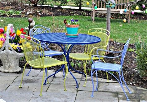 wrought iron patio furniture paint artsy fartsy