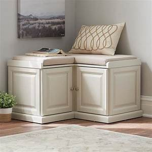 Corner, Bench, Small, Space, Seating, White, Storage, Benches, Cabinet, L