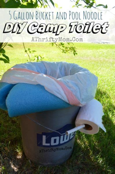 diy portable camping toilet     gallon bucket
