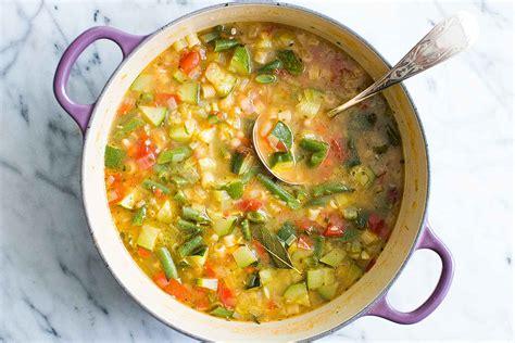 moroccan cuisine summer minestrone soup recipe simplyrecipes com