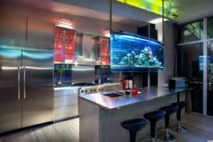 black kitchen island with stainless steel top 8 cool home aquariums that are completely helping us de stress photos huffpost