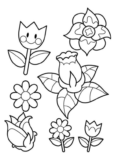 coloriage les fleurs souriantes du printemps