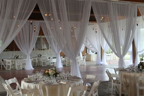 Wedding Drapery Rental by Birch Branch Poles And Sheer Fabric Draping Ms Events