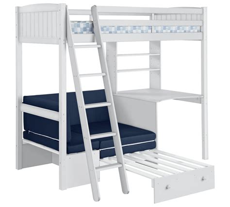 Classic High Sleeper With Sofa Bed by Buy Home Classic High Sleeper Bed Frame Blue Sofa Bed