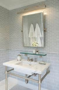 Glass Subway Tile Bathroom Ideas Gray Glass Subway Tile Backsplash Design Ideas