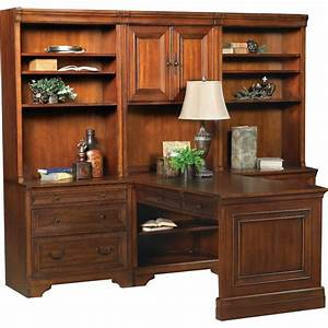 7, Piece, Home, Office, Desk, With, Hutch