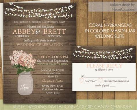 Barn Wedding Invitations : Mason Jar Wedding Invitations