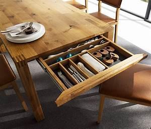 Luxury solid wood table - Loft TEAM 7 - Wharfside