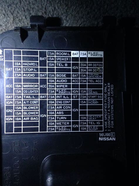 04 Nissan Maxima Fuse Box Diagram by How To Read Fuse Diagram Getting Frustrated Now Maxima