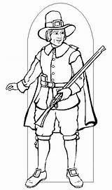 Pilgrim Coloring Pages Printable Pilgrims Thanksgiving Indians Boy Indian Sheets Activity Getcoloringpages Were 321coloringpages sketch template