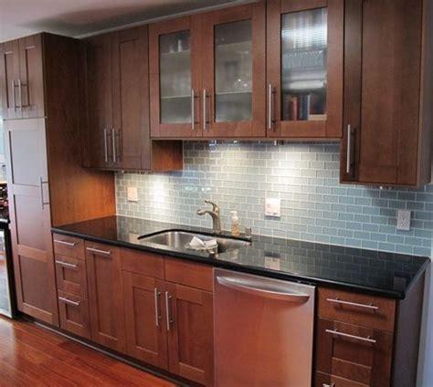 backsplash for kitchens glass subway tile kitchen backsplash in prism squared 1421
