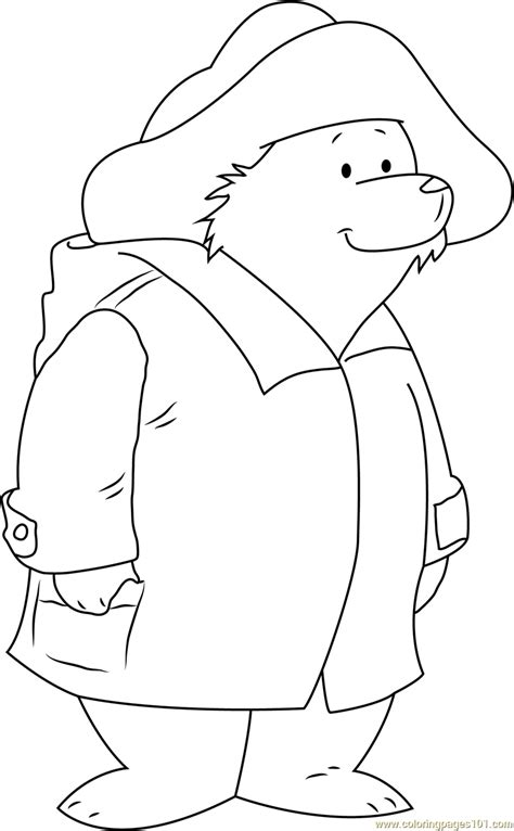 paddington bear coloring page  paddington bear