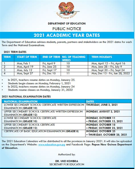 Starts on saturday 17 april 2021. 2021 Examination Dates and School Term Holidays - Papua ...