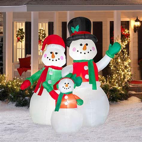 christmas lawn decorations inflatable christmas yard