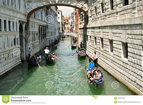 Venice City With The Bridge Of Sighs And Gondola Italy