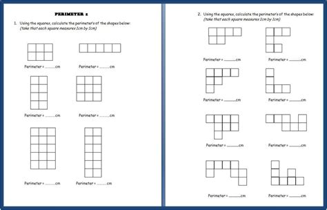 free perimeter printables five sets of perimeter