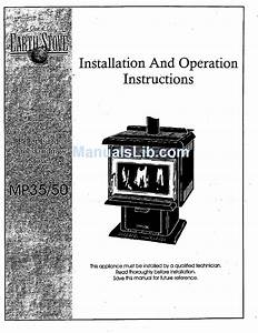 Earth Stove Mp35  50 Installation And Operation Instruction
