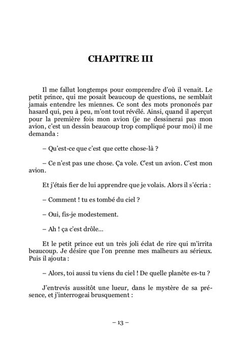 Petit Prince Resume Chapitre 4 by Le Petit Prince St Exupery