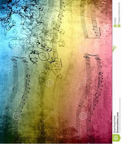 Notes Decorative Texture Background Rainbow Elements Grunge
