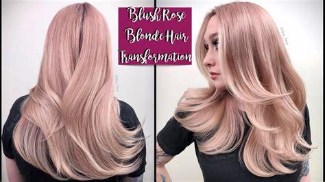Blush Rose Blonde Hair Transformation Youtube