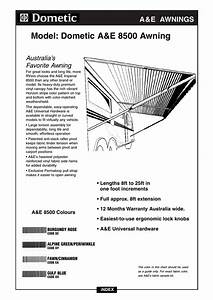 Dometic 8500 Awning Parts Diagram