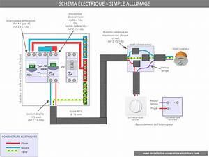 Le schema electrique du simple allumage for Quelle couleur avec le bleu 7 schema electrique le raccordement de 3 interrupteurs va