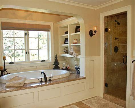 Garden Tub Bathroom by Shelves Beside Garden Tub Design Pictures Remodel Decor