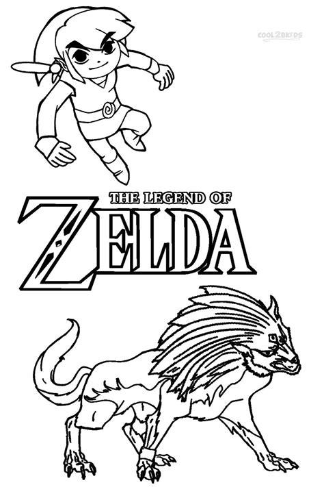 legend  zelda link coloring pages getcoloringpagescom