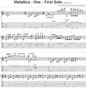 Metallica One Guitar Intro Tab