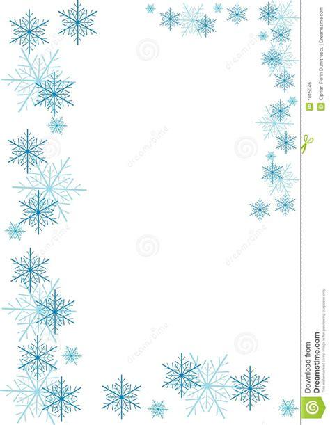 Free Snowflake Border Clip Art