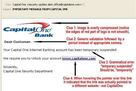 capital one bank phone number a reminder about phishing emails west easton pa