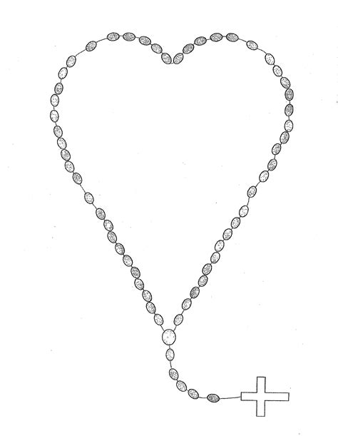 rosary tattoo coloring pages