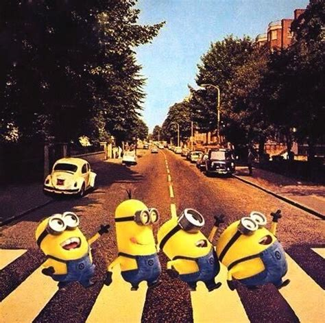 minions beatles abbey road minions pinterest