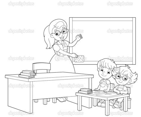 Classroom Coloring Pages Back Gt Gallery For Gt Easy Classroom Drawing On