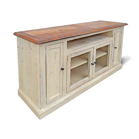 shabby chic media cabinet media console tv stand reclaimed wood entertainment center