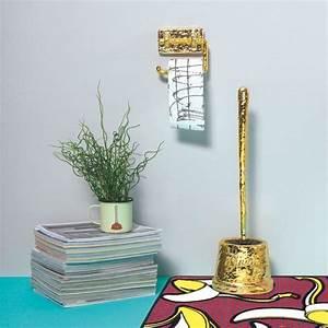 Gold, Brass, Toilet, Paper, Holder